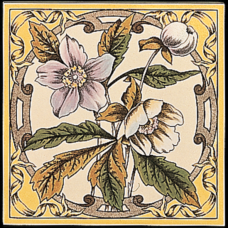 RT019 - Stovax Windflower Decorated Tile (4074)