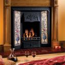 RT021 - Stovax Burgundy Glazed Tile (For Fireplace/Hearth) (4371)