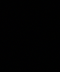 Stovax Gloss Black Glazed Tile