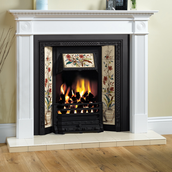 Stovax victorian cream glazed tile 4075 victorian for Victorian corner fireplace