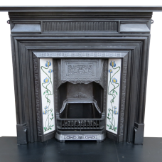 "CS032 - Original Cast Iron Fireplace Frame (51""H x 46.75""W)"