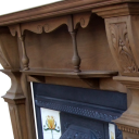 "TS038 - Original Antique Pine Fireplace Surround (52″H x 63.5""M)"