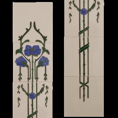 Carron Tubelined Fireplace Tiles LGC087