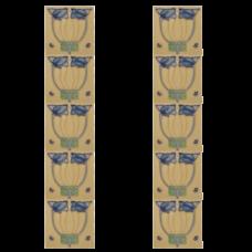 RT048 - Carron Tubelined Art Nouveau Fireplace Tiles (LGC089)