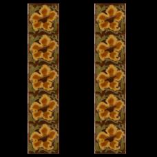 RT049 - Carron Tubelined Golden Fireplace Tiles (LGC091)