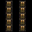 RT050 - Carron Tubelined Black Fireplace Tiles (LGC092)