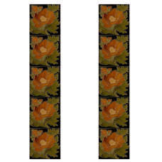 RT051 - Carron Tubelined Floral Fireplace Tiles (LGC093)