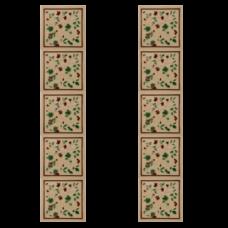 RT052 - Carron Tubelined Cream Fireplace Tiles (LGC094)
