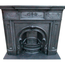 "CS107 - Original Victorian Cast Iron Fire Surround (55.5""H x 66""M)"