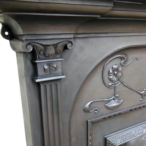 Antique Victorian Fireplace Cast Iron Surround