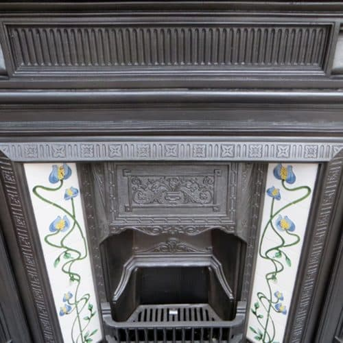 Original Cast Iron Fireplace Frame