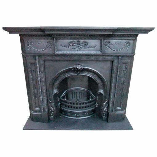 Original Victorian Cast Iron Fire Surround