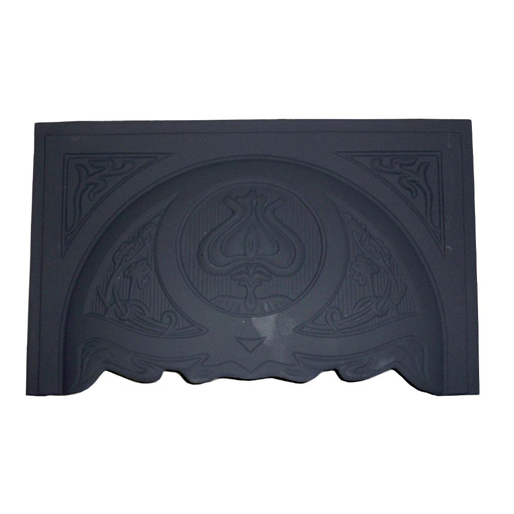 Art Nouveau Tulip Fireplace Hood H4 Black Victorian