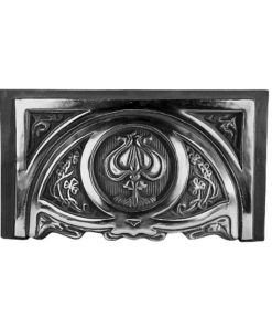 Art Nouveau Tulip Fireplace Hood (H4) (Black)