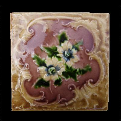 OT183 - Embossed Floral Victorian Original Tiles