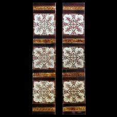 OT185 - Original Stencilled Floral Tiles