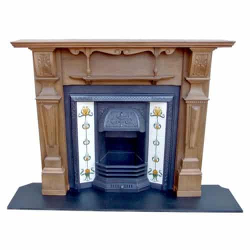 Original Antique Pine Fireplace Surround