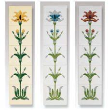 RT041 - Cast Tec Flag Iris Fireplace Tiles (3 Colours)