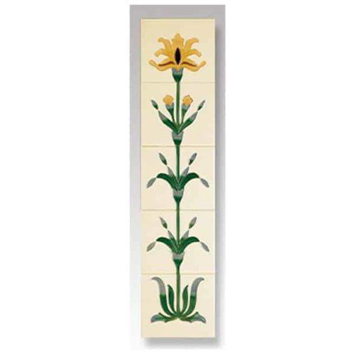 Cast Tec Flag Iris Fireplace Tiles