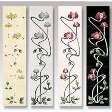 RT040 - Cast Tec Mediterranean Poppy Fireplace Tiles (4 Colours)