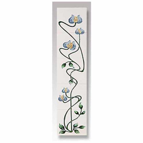 Cast Tec Mediterranean Poppy Fireplace Tiles
