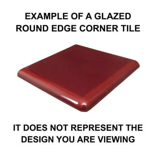 Glazed Round Edge Corner Tile