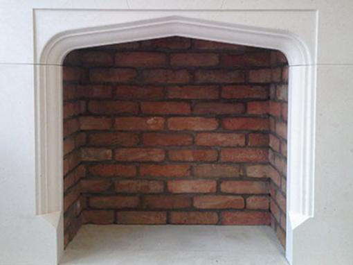 Fireplace Rustic Brick Chamber