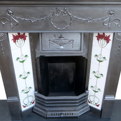 "COMBI267 - Traditional Cast Iron Combination Fireplace (42.5""H x 42""W)"