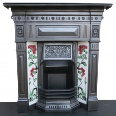"COMBI269 - Restored Original Cast Iron Combination Fireplace (46""H x 42""W)"