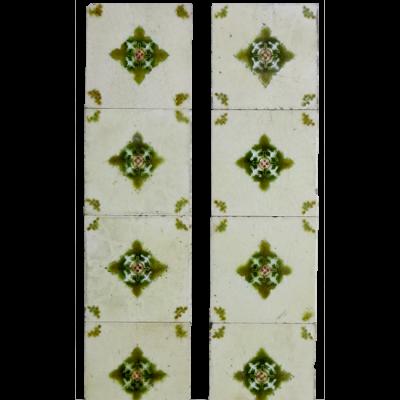 OT190 - Original Symmetrical Victorian Fireplace Tiles