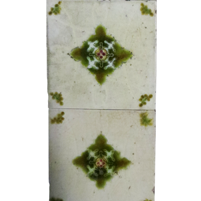 Original Symmetrical Victorian Fireplace Tiles