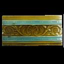 OT193 - Original Gold Iris Victorian Fireplace Tiles