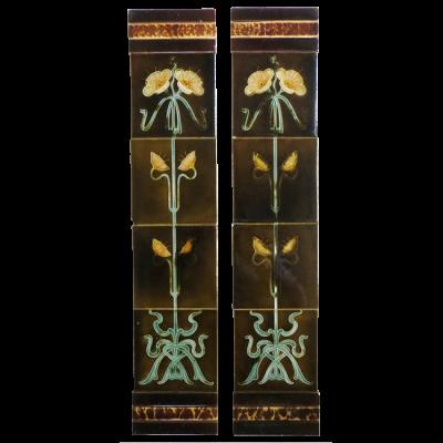 OT194 - Original Nouveau Victorian Fireplace Tiles