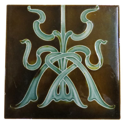 Original Nouveau Victorian Fireplace Tiles