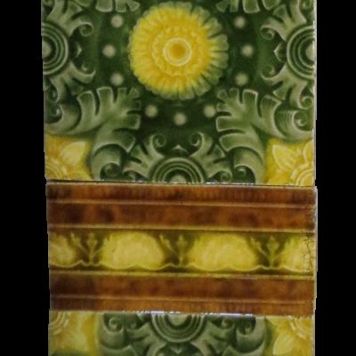 Original Victorian Intricate Fireplace Tiles