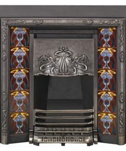 Stovax Art Nouveau Tiled Convector Fireplace Front