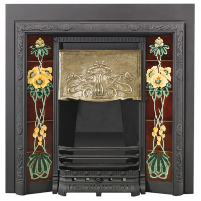 Stovax Art Nouveau Tiled Convector Fireplace