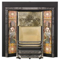 SR010 - Stovax Art Nouveau Tiled Fireplace Front