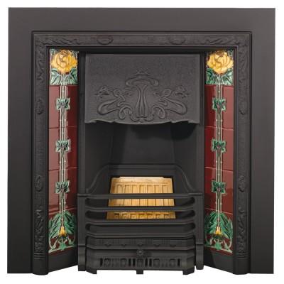 Stovax Art Nouveau Tiled Insert Fireplace