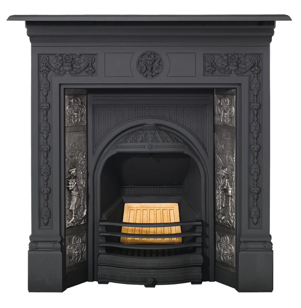 Stovax Combination Tiled Insert Fireplace Victorian