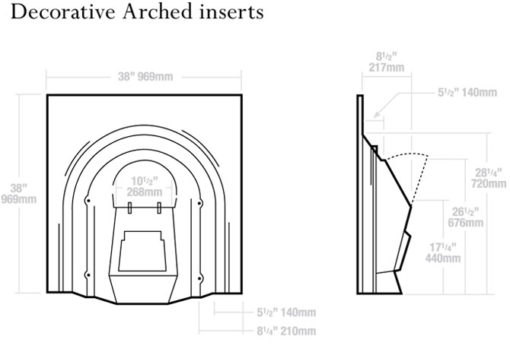 Stovax Decorative Arched Insert Fireplace
