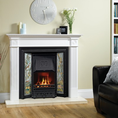 Stovax Victorian Tiled Convector Fireplace