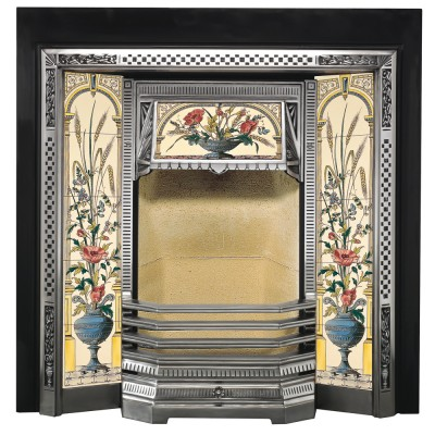 SR009 - Stovax Victorian Tiled Fireplace Front