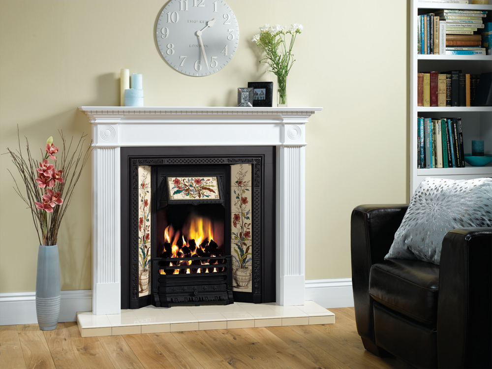 buy stovax victorian tiled insert fireplace. Black Bedroom Furniture Sets. Home Design Ideas