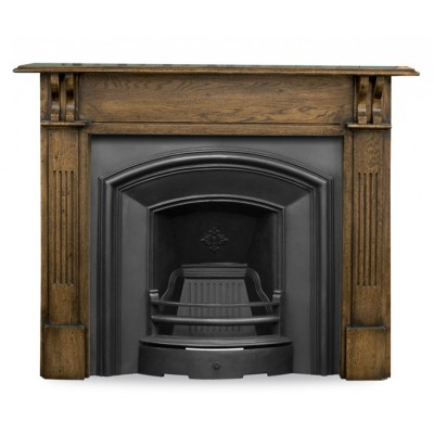 Carron London Plate Cast Iron Fireplace Insert