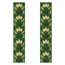 RT054 - Carron Tubelined Green Fireplace Tiles (LGC008)