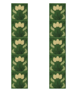 Carron Tubelined Green Fireplace Tiles (LGC008)