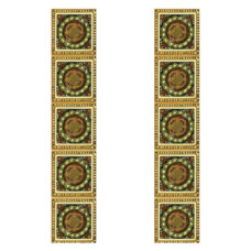 RT055 - Carron Tubelined Symmetrical Fireplace Tiles (LGC095)