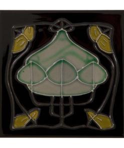Carron Tubelined Black Fireplace Tiles (LGC090)