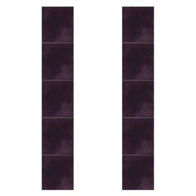 Carron Hand Painted Dark Mauve Fireplace Tiles (LGC079)